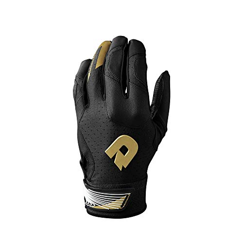 DeMarini CF Batting Gloves, Black - Youth Medium