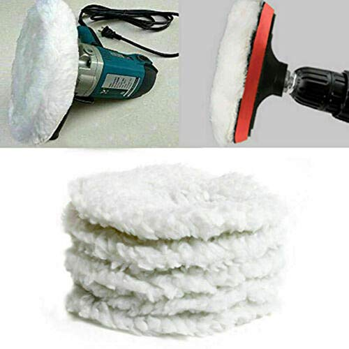 5tlg Weiß Polierfell Polierscheibe Polierhaube Polierpad für 240mm Poliermaschine