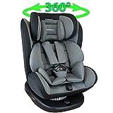 XOMAX 916 Kindersitz drehbar 360 mit ISOFIX und Liegefunktion I mitwachsend I 0-36 kg, 1-12 Jahre, Gruppe 0/1/2/3 I 5-Punkt-Gurt und 3-Punkt-Gurt I Bezug abnehmbar, waschbar I ECE R44/04