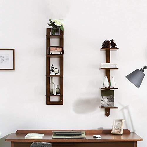 smzzz Heimwerker Hochwertige Regale Kreative Massivholzregale Wohnzimmerdekoration Regale Einfache Trennwände TV Hintergrund