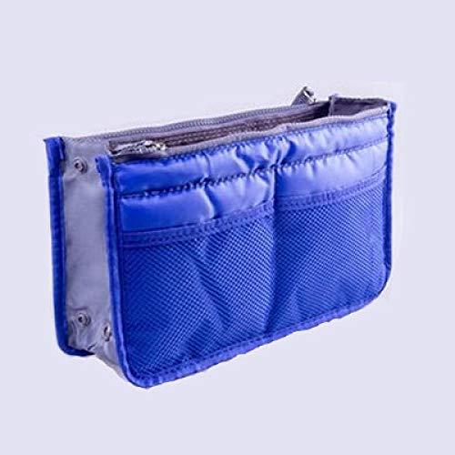 DAISUCAL Cosmetic Bag For Women Double Zipper Makeup Bag Toiletries Grooming Kit Large Nylon Travel Organizer Royalblue