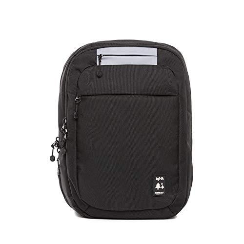 Mochila Eco Tejido Hecho de Material Reciclado con Compartimento Especial para portátiles y Tablet (Negro)