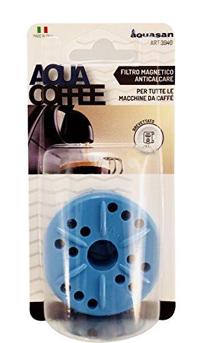 Aquasan 3940 Filtro Anticalcare Magnetico per Tutte Le Macchine da caffè Espresso, Blu