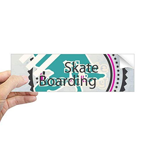 DIYthinker Sport Snowboarden Atleten Illustratie Rechthoek Bumper Sticker Notebook Window Decal