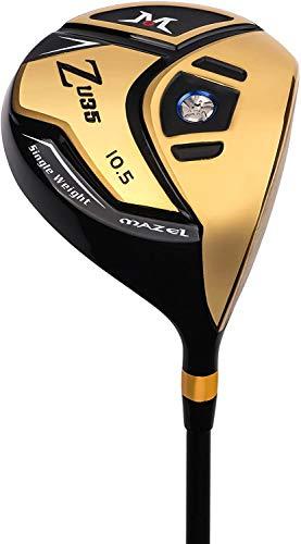 MAZEL Titan-Golfschläger für Herren, Rechtshänder, 460 cc (Gold 10,5 Grad Flex Regulär)