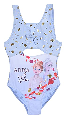 Frozen Bambina Costume da Bagno Un Pezzo (Blu,5 Anni)