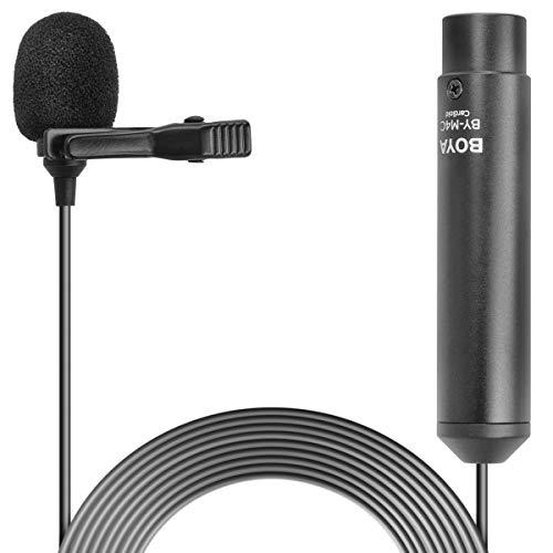 Boya Lavalier-microfoon XLR-aansluiting | Cardioïde microfoon nierkarakteristiek voor camcorder, recorder, camera met fantoomvoeding - BY-M4C