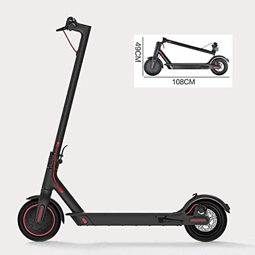 JLKDF Scooter eléctrico para Adultos Longboard Hoverboard Skateboard 2 Ruedas 45KM Kilometraje Negro
