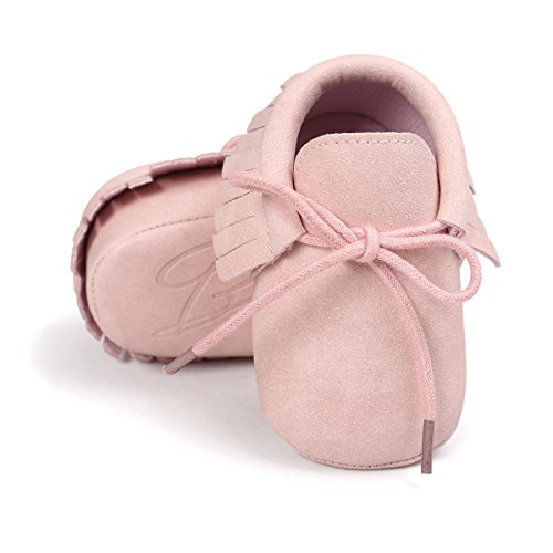 Ohwawadi Baby Girls Moccasins Sneakers Soft Infant Slippers Newborn Booties Crib Shoes Prewalker First Walker Shoes