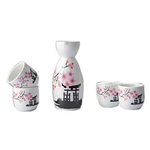 Fancy Pumpkin Tazas de cerámica Japonesa Sake Bottle Sets S