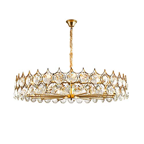 Lámpara de araña industrial moderna E de lujo de cristal colgante de mediados de siglo lámpara de techo retro contemporánea para sala de estar cocina cafetería restaurante dorado dorad