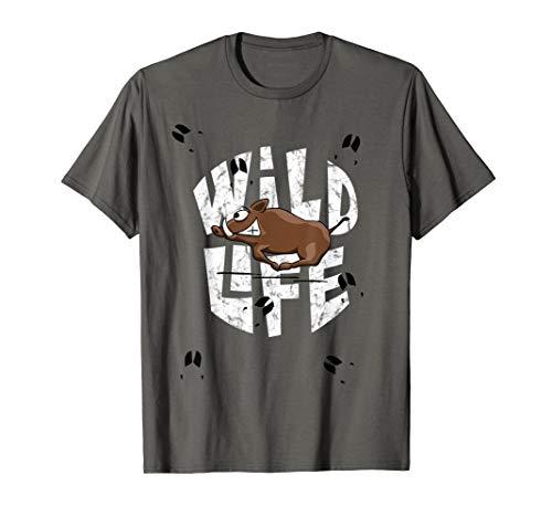 Wild-Life wildes Leben | Wildsau lustiges Wildschwein T-Shirt