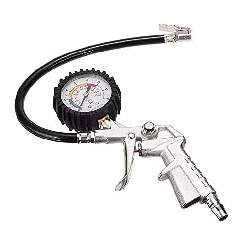 Engfgh Manómetro, Digital 0-22 0 PSI Pistola De Inflación del Neumático De Aire para La Herramienta TTYRE TTYRE TTYRE PRESIÓN PUSA PUSA PRESIÓN PRESIÓN TESTADOR DE Aero COMPRESOR (Color : White)