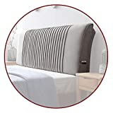 Con cojín grande para cabecera, respaldo de lectura de descanso, cojín lumbar cómodo para cama de hotel, 5 tamaños QianDa (color: gris A, tamaño: 150 x 58 x 10 cm)