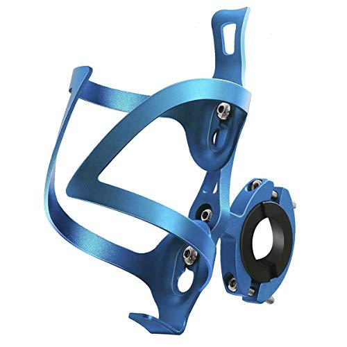 GuDoQi Portabidon Bicicleta para MTB, Soporte Botella Bicicleta de Aleación de Aluminio, Rápido y Fácil de Instalar, Adecuado para Bicicleta, Bicicleta de Carretera, Bicicletas de Montaña (Azul)
