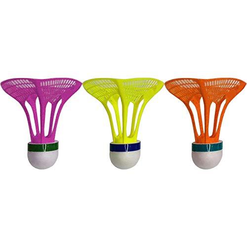 Misis Volants de Badminton 3 Paquets Badminton Volants Balles de Badminton avec Haute Élasticité...