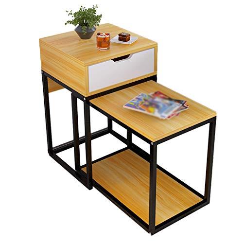 SZQ-Table Basse Table basse combinée, table basse de balcon avec espace de rangement réglable for salon multifonctions Rectangle créatif Table de sofa (Color : A)