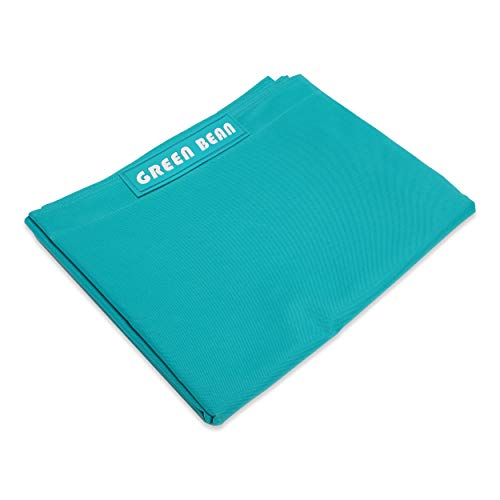 Green Bean  Square XXL beanbag Cover 140x180 cm - Copertura in PVC - Copertura beanbag Indoor e Outdoor - Turchese