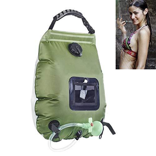 MLXG - Bolsa de agua para camping al aire libre, 20 l, para camping, alpinismo, bolsa de agua portátil, para baño al aire libre, no tóxica para el medio ambiente, PVC