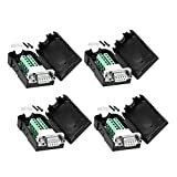 DaFuRui 4Pack DB9 Solderless RS232 D-SUB Serial to 9-pin Port Terminal Female Adapter Connector Breakout Board (with Nut )