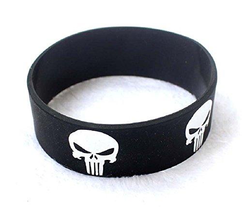 Punisher Skull - Muñequera de silicona con diseño de calavera