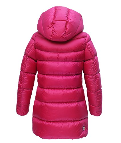 COLMAR Daunen Mantel 3448K Mädchen, Pink (323), Größe 10 Jahre / 140