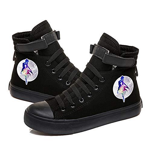 NXMRN Sailor Moon Hombres Y Mujeres Zapatillas De Deporte Graffiti High Pointing Girl Zapatos Casuales Otoño Nuevos Zapatos De Mujer-39