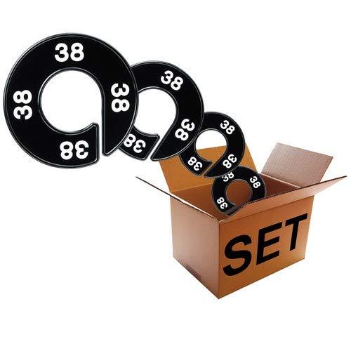 Kunststofftechnik Vlotho - Der Original Größenfinder: Modell Größenscheiben Herren - Bekleidungsgrößen - Set, 13 Größenscheiben für Größenkennzeichnung auf Kleiderstangen