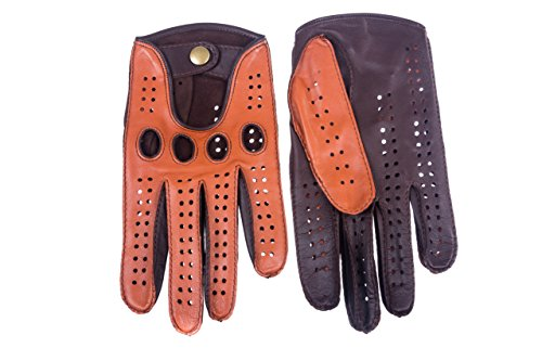 Hungant Autofahrer Handschuhe Leder Lammleder Kork Braun By (9, Kork Braun)