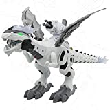 Dinosaur for Kids Boys Girls,Electronic Automatic Walking Dinosaur Toys,Mechanical Dinosaur Toys with Water Mist Spray&Lights Up&Realistic Sounds Cool Dinosaur( Upgrade ) with Launcher can shooting