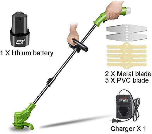 Review REWD String Trimmers Electric Lawn Mower Agricultural Cordless Grass Garden Edge Trimmer 12V ...