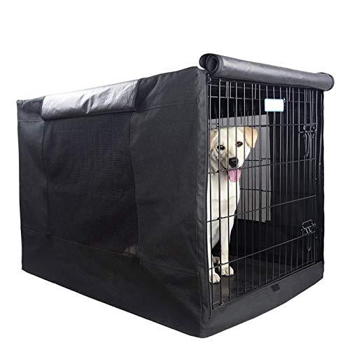 GJQDDP Hundekistenabdeckung Für Den Außen, Hundekistenabdeckung, Schweres Wind- Und Staubdichtes 600D Oxford-Tuch Haustiere Zwingerabdeckungen Für Drahtkiste, Für Den Innen- Und Außenschutz,24 inch