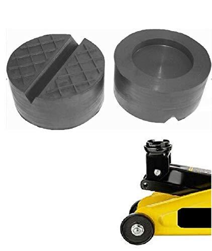 100x50mm mit V-Nut/Aussparung Gummi-Auflage Unterlage Wagen-Heber Hebebühne eckig Auto Set Unterstellbock Klotz Rangier-Wagenheber Puffer Reifen Reifenwechsel LKW Räder KFZ Tuning Zubehör