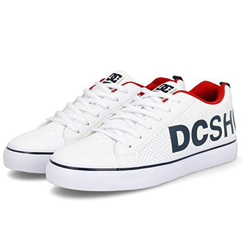 DC Shoes Men's Court Vulc SE SN Low Top Sneaker Shoes White/Black/Red (wbd) 9