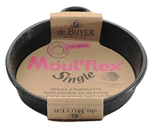 DE BUYER -1980.10 -moulflex noir - tartelette mono ø 10