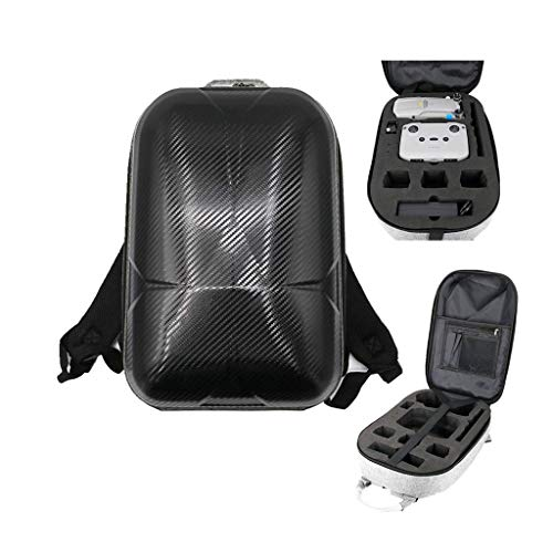 Aliturtle Carbon Fiber Polished Backpack Drone Carrying Case Compatible with DJI Mavic Air 2 Fly More Cambo, Bag Fits for Quadcopter, Remote Controller, Batteries, AC Adapter, and Other Accessories
