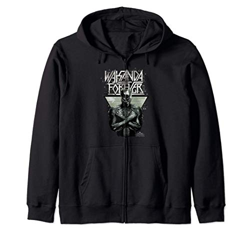 Marvel Black Panther Wakanda Forever Prism Patterned Sudadera con Capucha