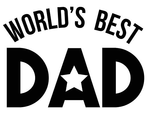 Custom Worlds Best Dad Vinyl Decal - Family Bumper Sticker, for Tumblers Coolers, Laptops, Car Windows