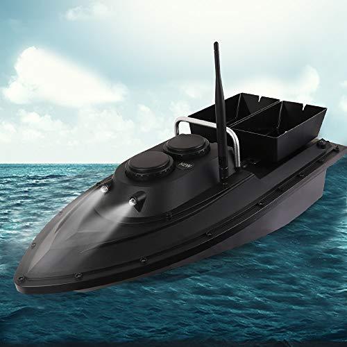 DIFU Intelligentes Fischköder-Boot Futterboot Angeln 500m Fischfinder RC Boot Wasserdicht Schiff Ferngesteuert Bait Boat mit Doppelköderboxen, 5.4 km/h