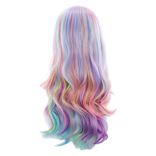 QIYUN.Z Cosplay Femmes Cendrillon Anime Boucles Ondules Longs Cheveux Bruns Pleine Costume Perruques