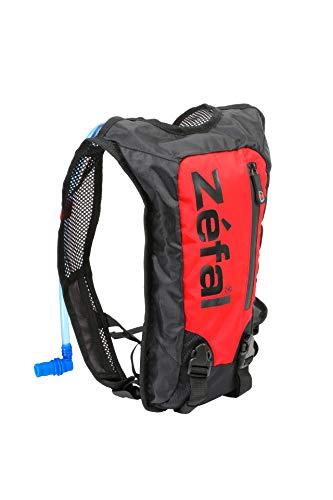 Zéfal Z Hydro Race - Mochila de hidratación Ligera y Minimalista + Bolsillo de Agua de 1,5 L Incluido - Bicicleta de Correr, Trail y Senderismo, Color Negro y Rojo, tamaño Noir et Rouge