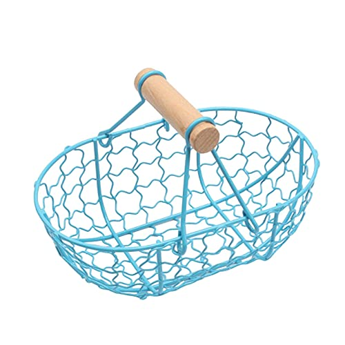 GYC Iron Wire Bread Basket Retro Style Metal Storage Basket Fruit Container Fried Vintage Tray with Handle Kitchen...