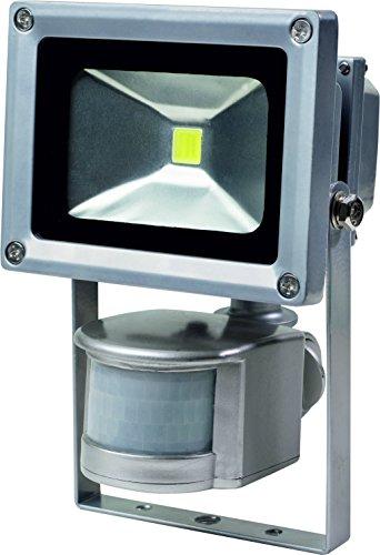 as - Schwabe 46977 Solar Chip LED-spot met bewegingsmelder, 10 W, werkt op batterijen (commercieel/bouwplaats/buitenruimte)