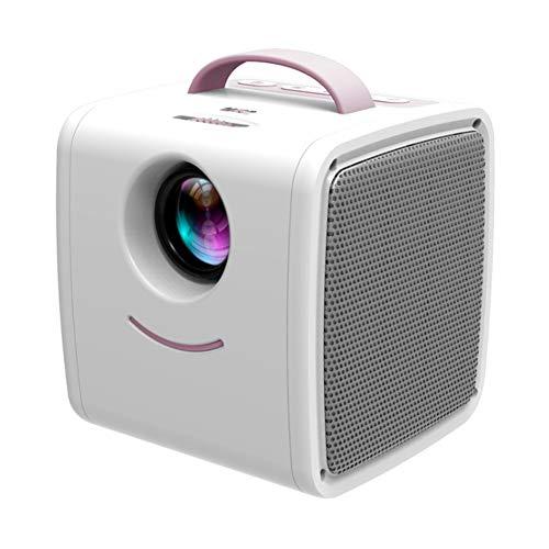 YYZLG Q2 Mini Micro Proyector Inicio LED Proyector Proyección para niños HD 1080P-whitepink