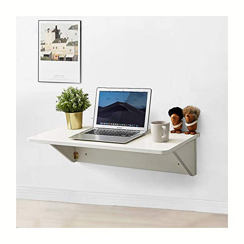 ZRN Escritorio de Pared Blanco, pequeña Mesa Plegable Mesa de Comedor de Madera Resistente, complemento lavadero/Bar/Cocina