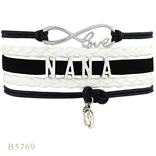Gevlochten armband, unisex armband, handgeweven, vingerafdruk-accessoires, meerlagige armband, modieuze armband, zwart en wit