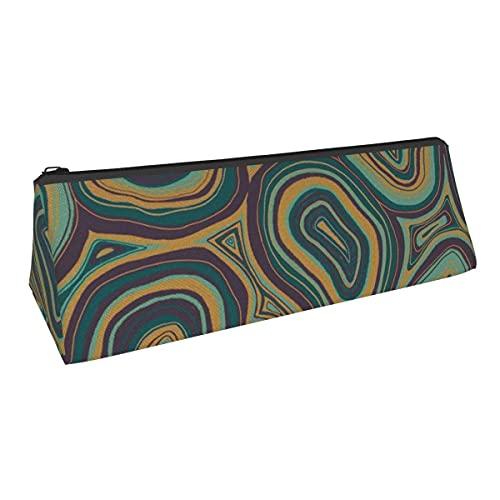 Bolsa de almacenamiento para bolígrafos de mano Drn de ágata con tonos de joya de pequeña capacidad, para niños, niñas, universidad, escuela, oficina, alicates de papelería