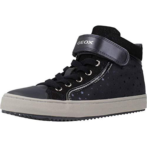 Geox Mädchen High-Top Sneaker Kalispera Girl, Kinder Sneaker,Sportschuh,Sneaker-Stiefelette,mid-Cut,atmungsaktiv,BLAU,35 EU / 2.5 UK