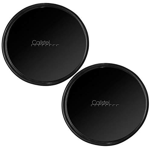 Callstel Klebepads: 2er-Set 2in1-Gel-Pad & Wandhalterung mit Nano-Technologie, Ø 80 mm (Antirutschpads)