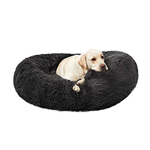 ANWA Waschbar Rundes Hundebett Groß, Donut Hundebett für Große Hunde, weiches Plüsch Hunde Haustierbettt